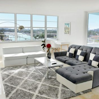 Bay View Living Room at Seacoast Suites