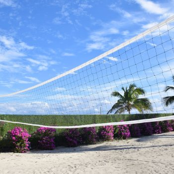 Volleyball court at seacoast suites